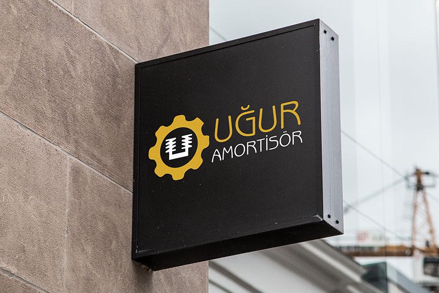 ugur amortisör logo tasarım